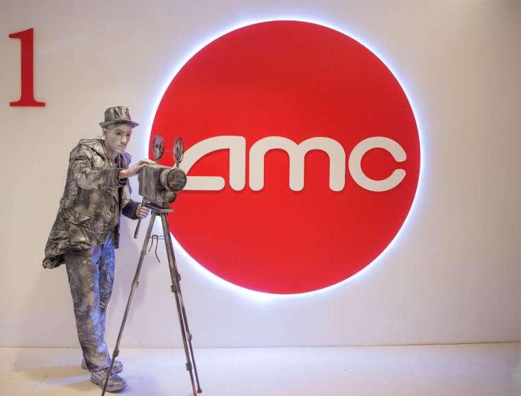 繼昨日創歷史新高後,AMC 週四股價震盪收黑。(圖片:finviz)