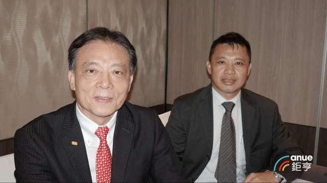 晶技董事長林萬興(左)及總經理郭雅屏。(鉅亨網記者張欽發攝)