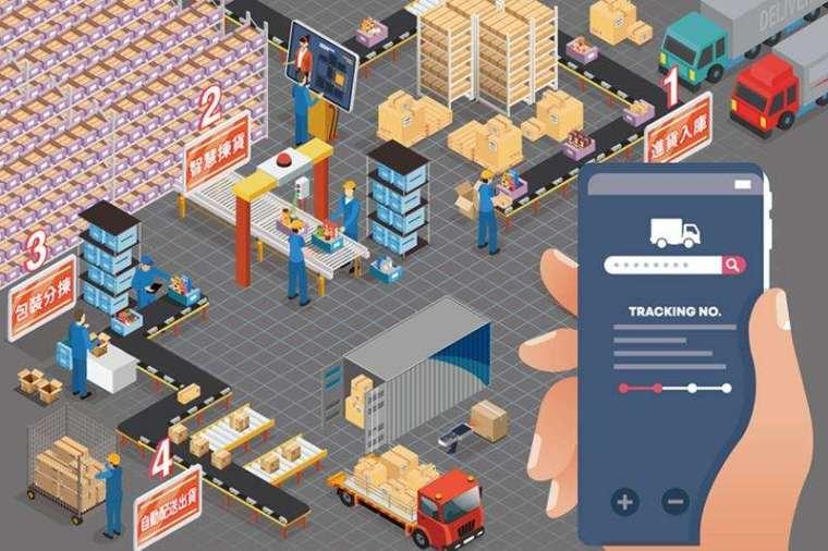 AI 立體式智慧倉儲系統,從進貨入庫、揀貨、包裝、配送到出貨,都有 AI 的細緻打理。客戶下單到出貨,最快 10 分鐘就可完成。
