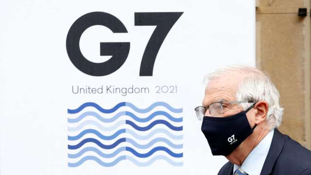 日經:G7領袖峰會聲明可能首度提及台海安全 (圖:AFP)