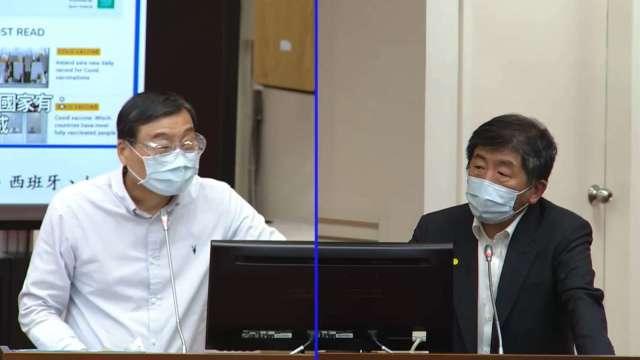 AZ曾找台灣代工疫苗 陳時中:數量太大沒談成。(圖:立法院隨選視訊)