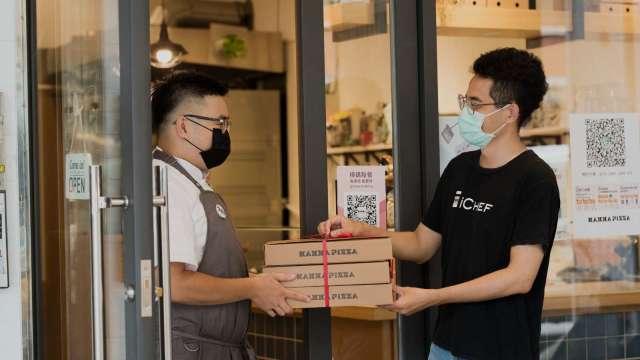 餐飲業營收腰斬,新創iCHEF推外帶平台拚月底5000家餐廳加入。(圖:iCHEF提供)