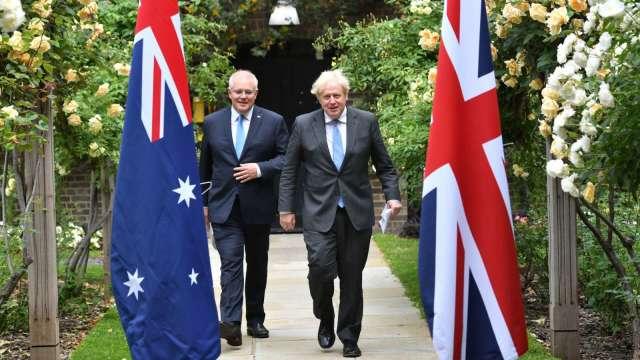 英澳關係露曙光 兩國宣布達成雙邊貿易協定 (圖:AFP)