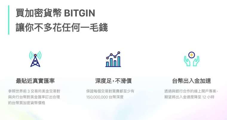 合規的新台幣加密貨幣交易所「幣竟 BITGIN」,主打買 USDT 最實惠且保證不滑價。