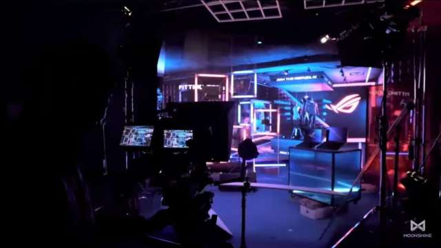 聚積攜手夢想動畫 打造台灣首座超小間距LED顯示屏虛擬攝影棚。(圖:聚積提供)