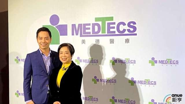 圖左為美德醫執行長楊威遠、右為副總裁陳素甜。(鉅亨網資料照)