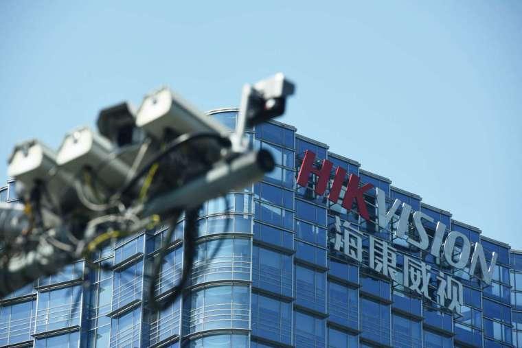海康威視、大華科技的攝影監控器材在美政府和大專院校隨處可見(圖片:AFP)