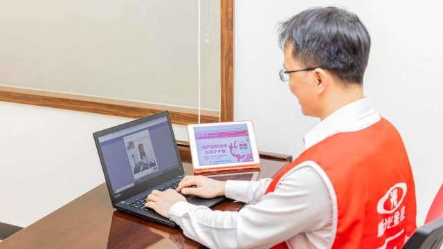 新壽打造防疫視訊錄影平台 業界唯一雙作業系統適用。(圖:新光人壽提供)