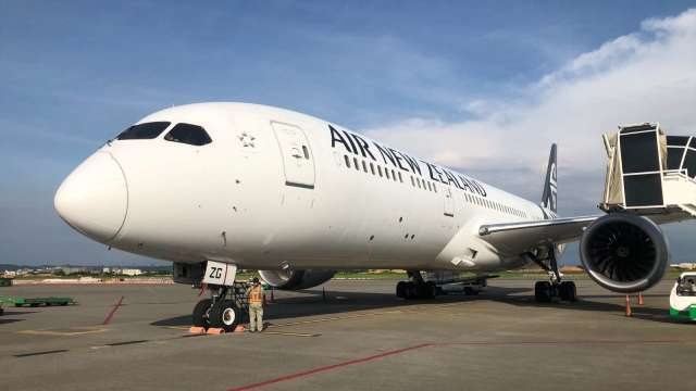 紐西蘭航空8月將重啟每月1班台北-奧克蘭直飛航班。(圖:紐西蘭航空提供)