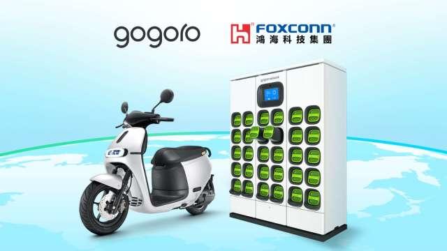 鴻海與Gogoro合作,加速智慧電動機車與換電技術發展。(圖:鴻海提供)