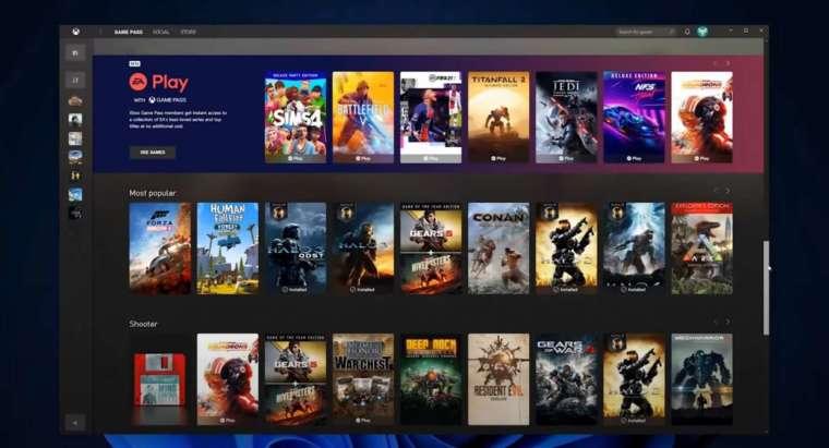 用戶能遊玩超過 100 款高品質遊戲 (圖片:微軟)