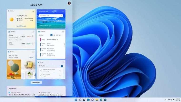 Microsoft Edge 提供各種小工具 (圖片:微軟)