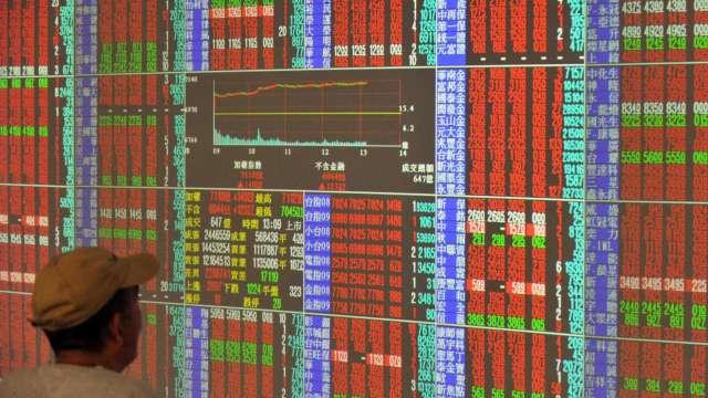 電金攜航運續衝關 台股漲95點收17502點 周線連6紅。(圖:AFP)