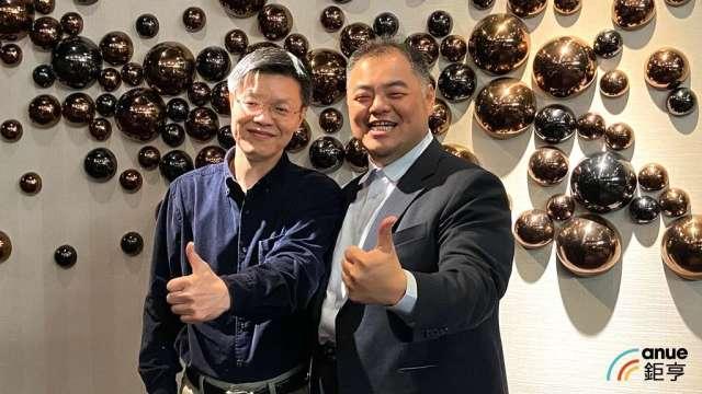 全新董事長陳建良(右)、總經理黃朝興(左)。(鉅亨網資料照)