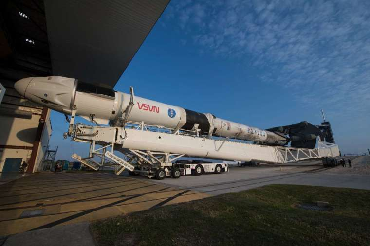 獵鷹 9 號運載火箭。(圖片:AFP)
