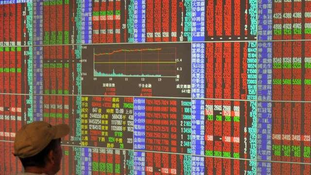 台股改寫收盤次高劍指17600點。(圖:AFP)