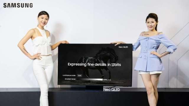 品牌廠擴大布局中高階產品,今年OLED、QLED電視出貨將創高。(圖:三星提供)