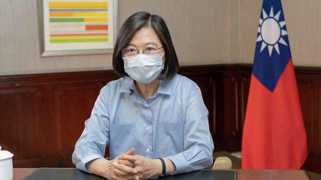台美TIFA會談 蔡英文:磋商簡化疫苗等物資進出口程序。(圖:總統府提供)