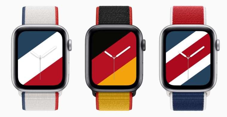 Apple Watch 國際系列運動型錶環及錶面 (圖片:蘋果公司提供)