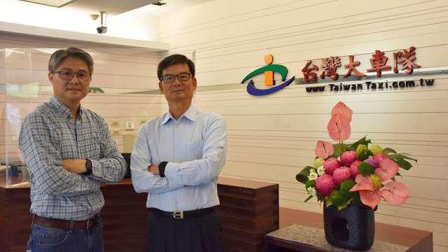 大車隊董事長林村田(右)和全球快遞總經理劉金維(左)。(圖:大車隊提供)