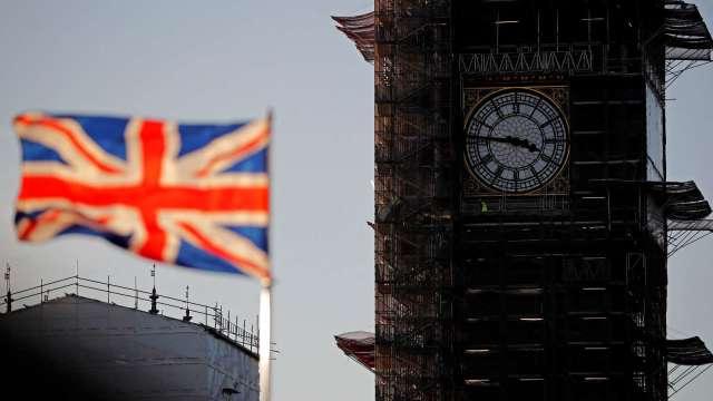 英國第一季GDP終值萎縮1.6% 低於市場預期(圖片:AFP)