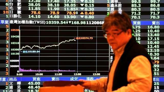 台股大洗三溫暖震盪逾210點 三大法人聯手賣超225.38億元。(圖:AFP)