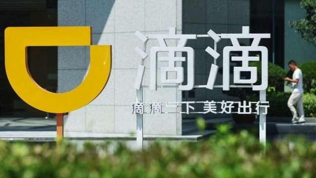 滴滴開盤跳水逾5%!中國突襲審查 蜜月行情失色。(圖片:AFP)
