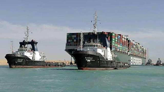 長賜號賠償事宜談妥 預計7日動身駛離蘇伊士運河 (圖片:AFP)
