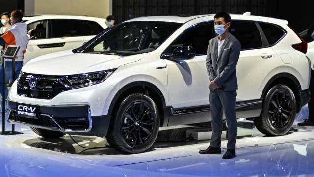 晶片短缺攪局 本田6月中國新車銷量大減17% (圖片:AFP)
