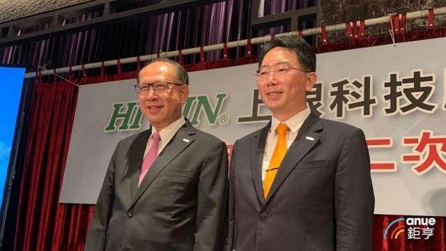 左起為上銀集團總裁卓永財、上銀董事長卓文恒。(鉅亨網資料照)