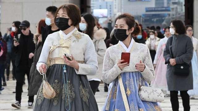 南韓單日新增確診飆升 人數創第二高紀錄 (圖片:AFP)