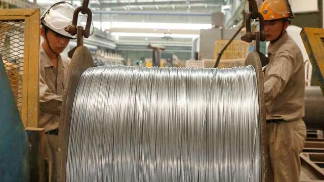 中國官方:將持續投放國家金屬儲備 以穩定價格(圖:AFP)