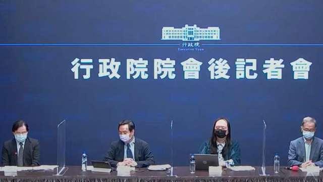 根留台灣、中小企業方案貸款額度加碼1500億元。(圖:取自行政院直播)