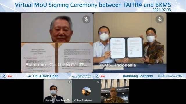 國光生今(8)日與吉沛經濟特區BKMS管理公司簽訂合作備忘錄。(圖:國光生提供)