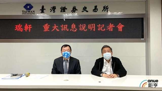 瑞軒董事長吳春發(右)、財務長邱裕平(左)。(鉅亨網資料照)