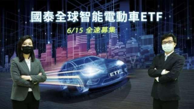 00893搶攻電動車藍海商機 掛牌7天逾10萬人「搭車」。(圖:國泰投信提供)