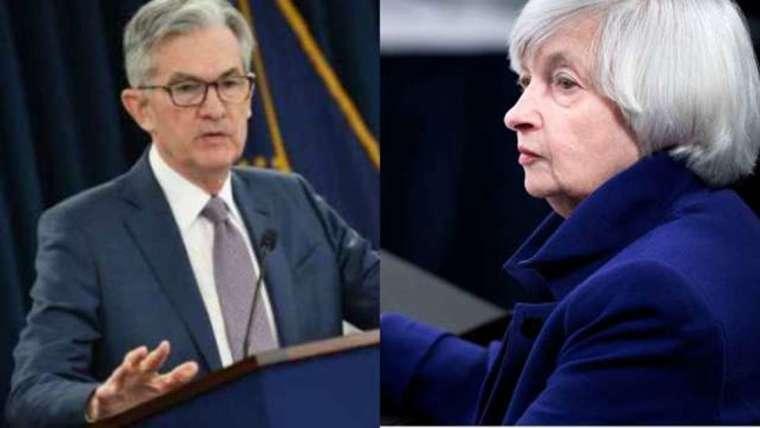 鮑爾和葉倫是現任和前任 Fed 主席。圖皆來自 AFP