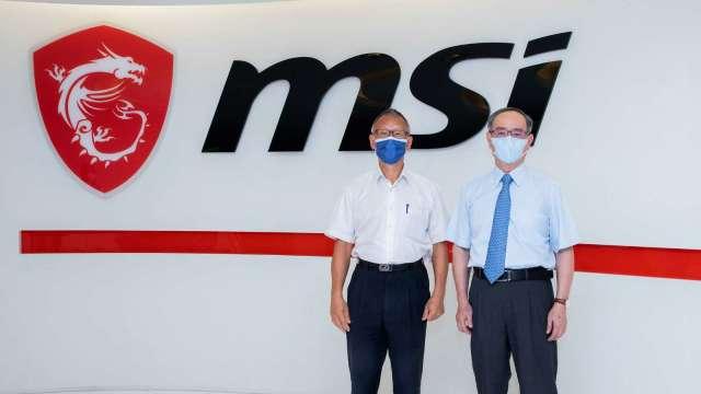 微星董事長徐祥(右)、總經理黃金請(左)。(圖:微星提供)
