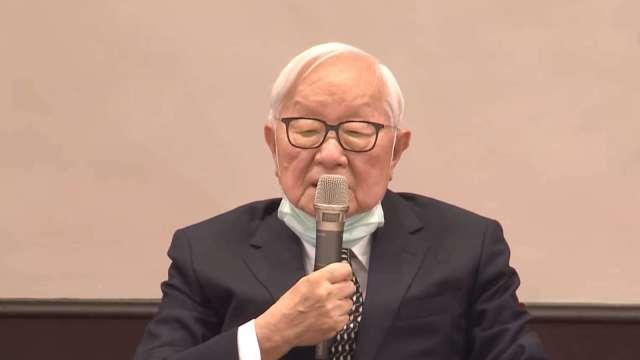 台積電創辦人張忠謀代表總統蔡英文參與「APEC非正式領袖閉門會議」。(圖:擷取自總統府直播)