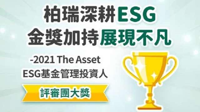 柏瑞投信榮獲《財資》「ESG基金管理投資人」大獎。