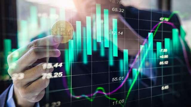 虛擬貨幣趨勢概念圖
