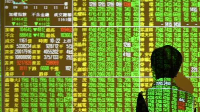 航運股翻船、權值股倒地 台股摜破月線重挫260點收17528點。(圖:AFP)
