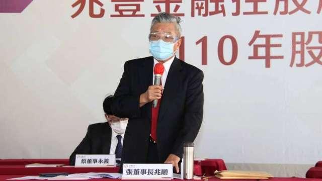 兆豐金董事長張兆順舉行股東常會。(圖:兆豐金提供)