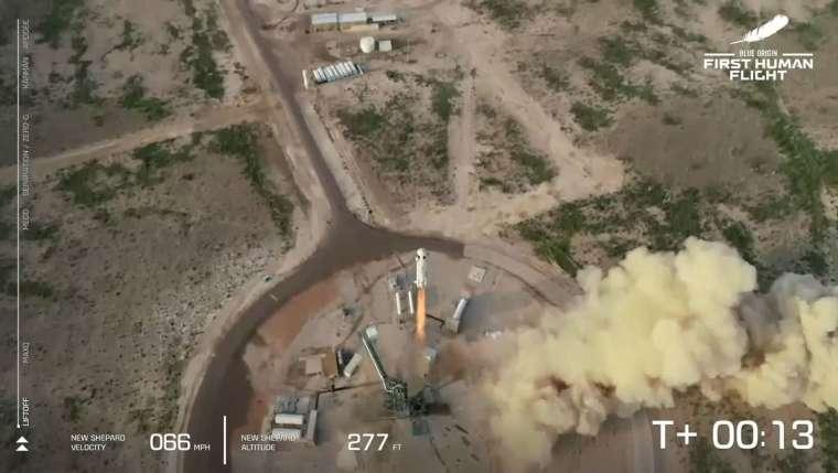 新雪帕德號起飛鳥瞰圖。(圖片:AFP)