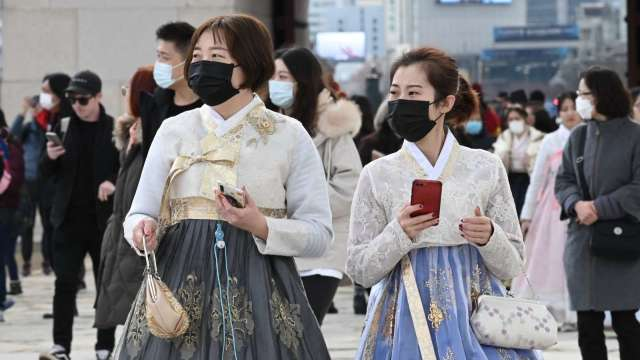 南韓新增1784人肺炎確診 創下新高紀錄 (圖片:AFP)