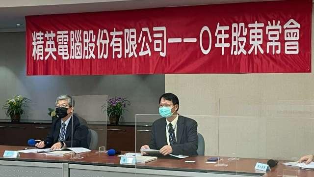 精英董事長詹文男(左)、總經理許志宏(右)。(圖:精英提供)