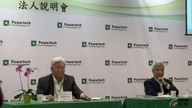 左起為力成董事長蔡篤恭、新任超豐董座謝永達。(鉅亨網資料照)