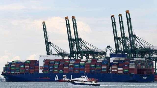 美打擊航運開第一槍 FMC將審查9大貨櫃輪業者 長榮、陽明入列(圖:AFP)