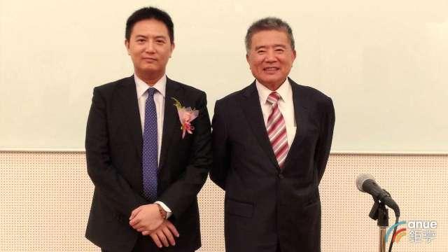 左起為豐興新任董事長林大鈞及前董事長林明儒。(鉅亨網資料照)