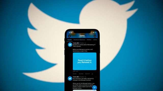 〈財報〉推特Q2營收大增 獲利遠高於預期 盤後漲逾5% (圖片:AFP)